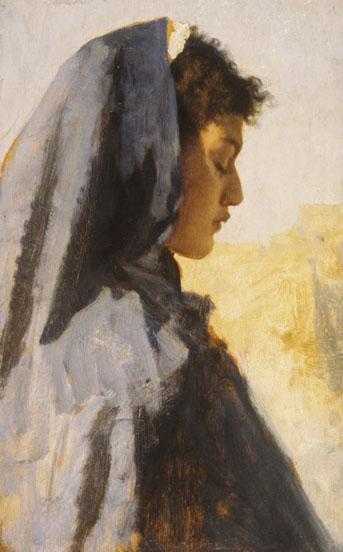 leopold muller-perfil de una mujer