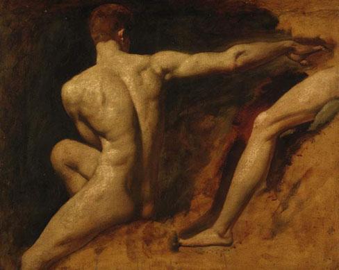 William Etty Estudio De Dos Desnudos Masculinos Museos Y Pinturas Juan