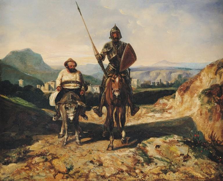 alexandre gabriel decamps-don quijote y sancho