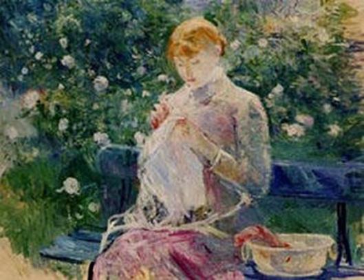 berthe morisot-la costura en el jardín de bougival