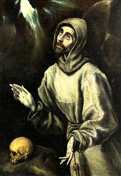 el greco-san francisco recibiendo los estigmas