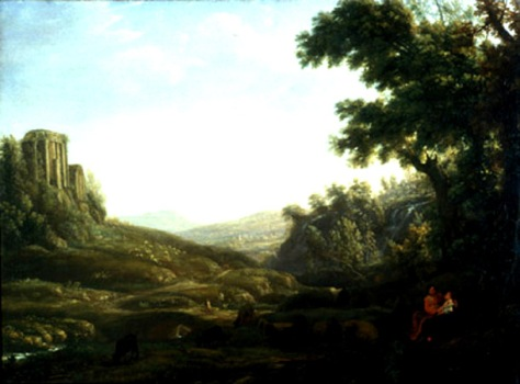 claude lorraine-paisaje con pastor y pastora