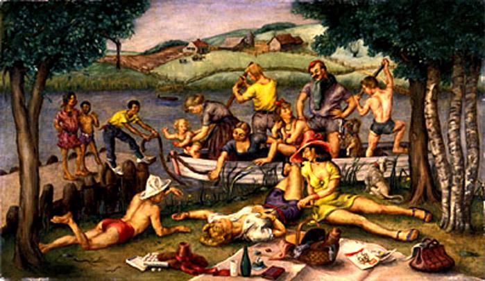 ilse bischoff-picinic en el río