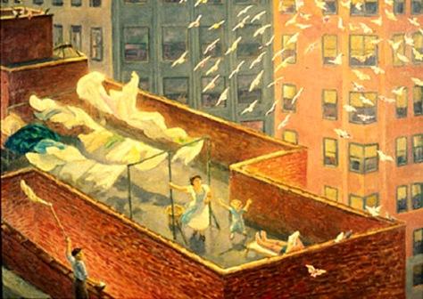 john sloan-una terraza en chelsea