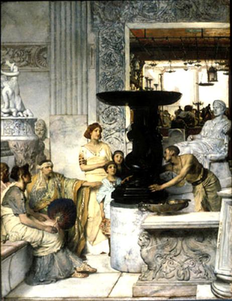 lawrence alma tadema-una galería d eesculturas
