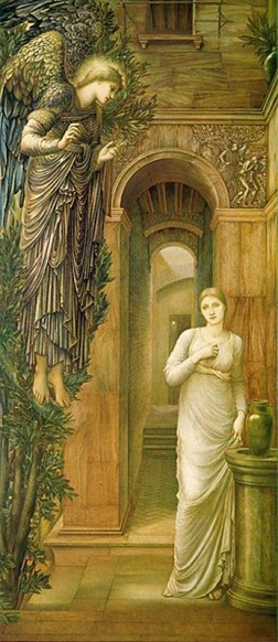edward burne jones-la anunciación