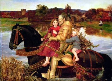 john everett millais-sir umbras en el vado