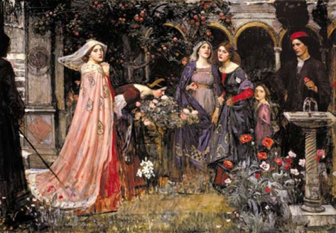 john williams waterhouse-el jardín encantado