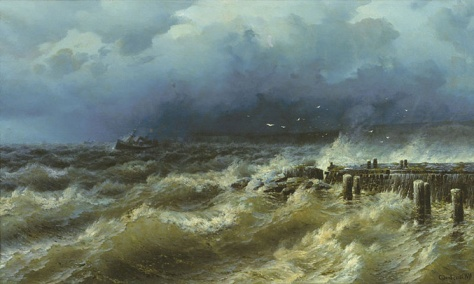 rufin sudkovsjy-tormenta en el muelle