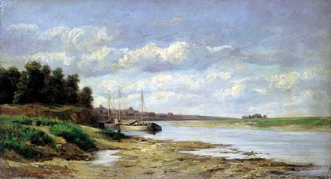 sergey ammosov-barcaza en el río