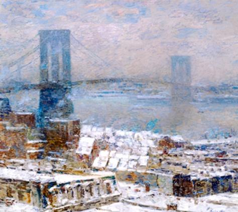 childe hassam-puente de brooklyn en invierno