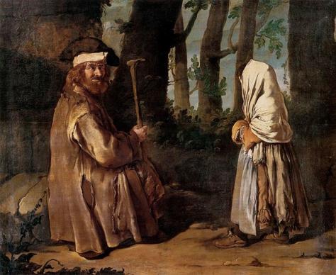 giacomo ceruti-encuentro en el bosque