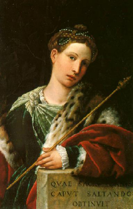 moretto de brescia-retrato de tullia di aragona como salomé
