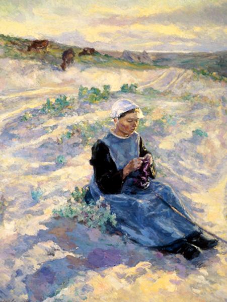 raphael lewison-pastora en la dunas