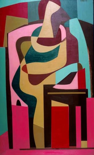 carl robert holty-figura sentada