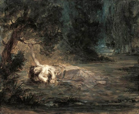 eugéne delacroix-la muerte de ofelia