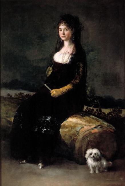 francisco de goya-retrato de joaquina candado ricarte