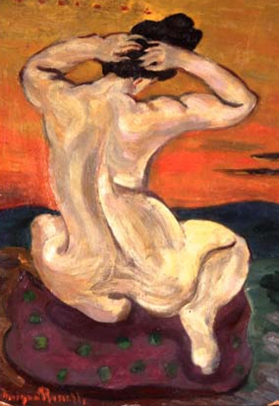 morgan russell-desnudo en sunset