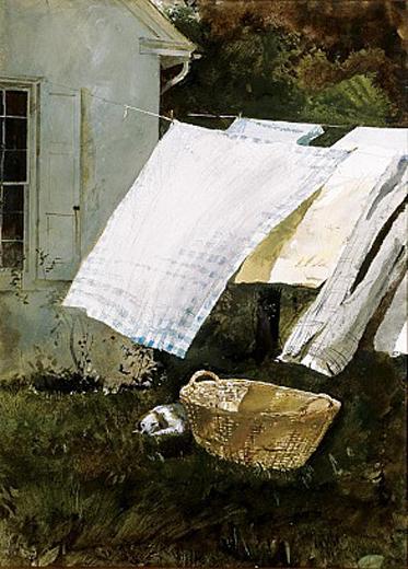 andrew wyeth-ropa resplandeciente