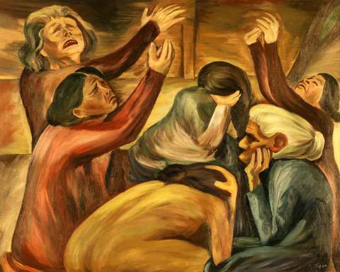 crawford gillis-mujeres rezando