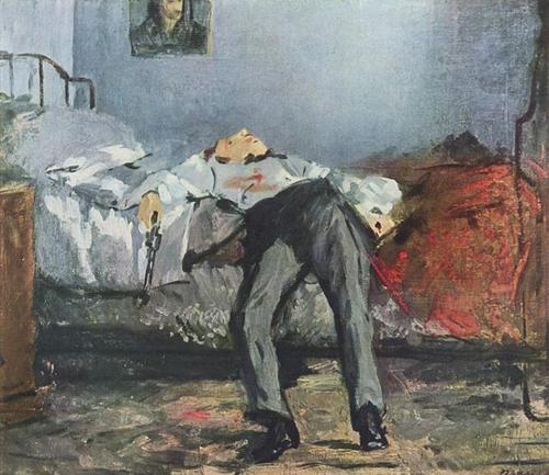 edouard manet-el suicidio