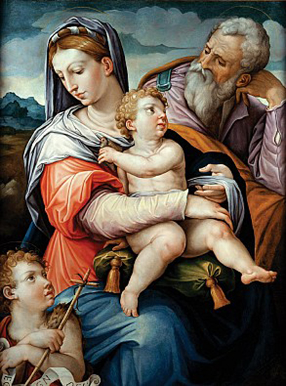 giorgio vasari-la sagrada familia con san juan infante