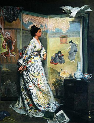 gustave leonard de jonghe-la admiradora del japón