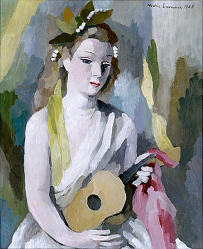 marie laurencin-mujer y mandolina