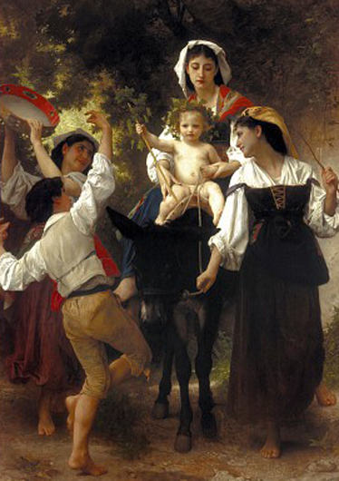 william adolphe bouguereau-regreso de la cosecha