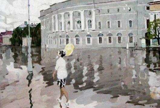 boris vasilievich korneev-mañana lluviosa