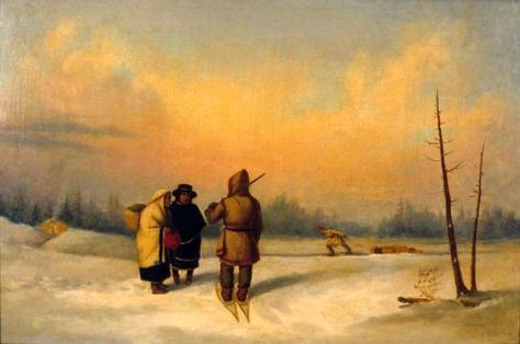 cornelio krieghoff-invierno en quebec