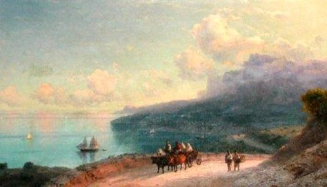 iván aivazovsky-la costa en crimea