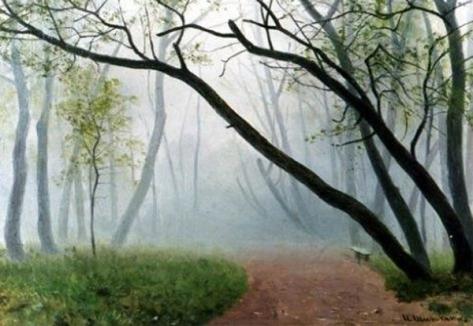 iván sishkin-la niebla en el camino al parque