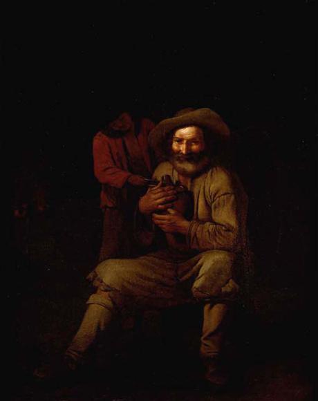 michelsweerts-un campesino con una jarra de vino