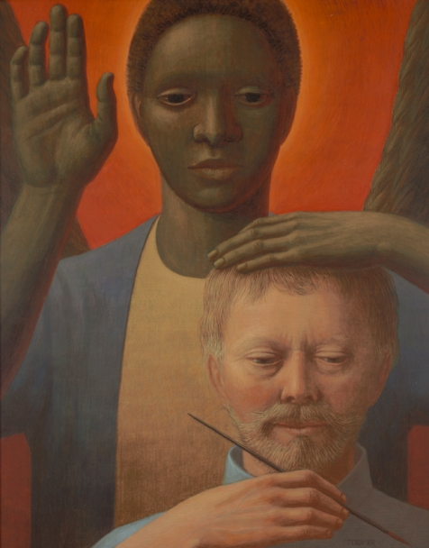 george tooker-ángel negro
