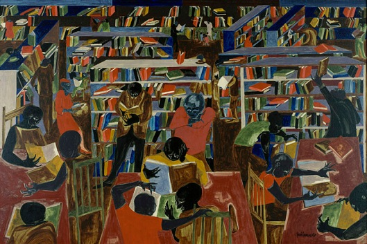jacob lawrence-la biblioteca