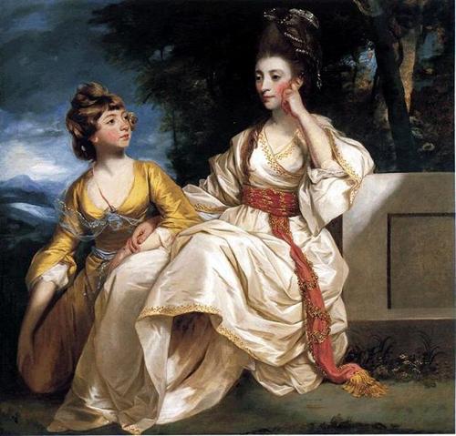 joshua reynolds-retrato de  hester trales y su hija hester