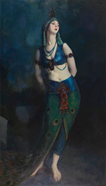 robert henri-ruth saint denis en la danza del pavo