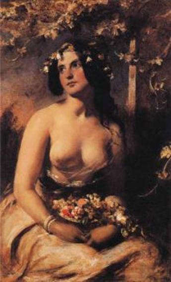 william etty-la chica de las flores