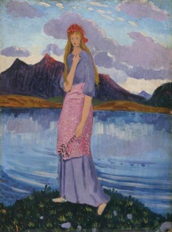 james dickinson innes-una chica en el lago