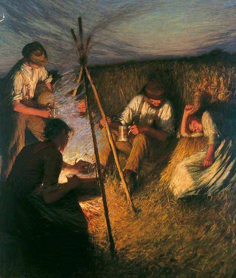 henry la thangue-cena de cosecheros
