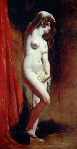 william etty-la bañista