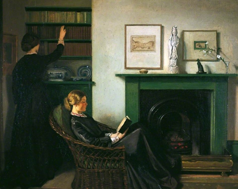 william rothenstein-las lectoras de browning