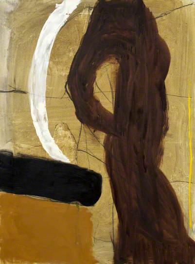 roger hilton-figura marrón