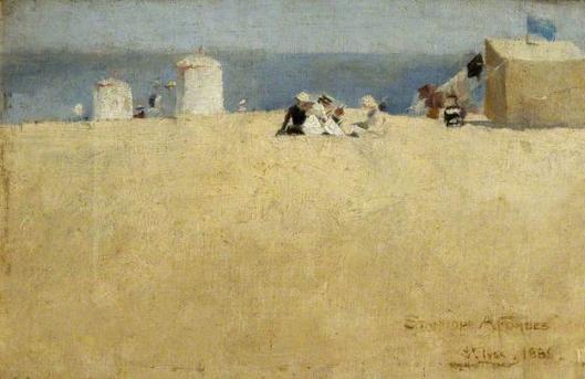 stanhope alexander forbes-escena de playa en saint ives