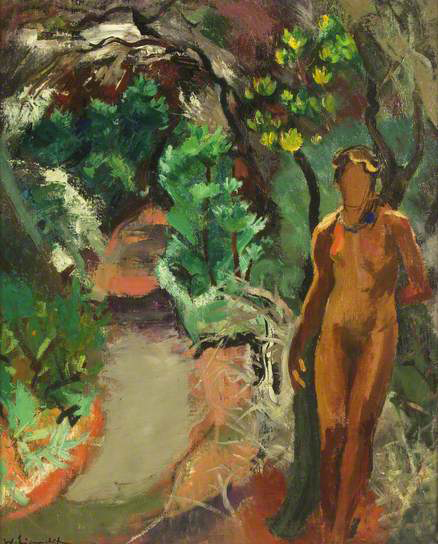 willy eisenschitz-figura en el jardín