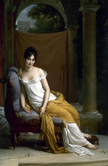 francoise gerard-retrato de juliette recamier