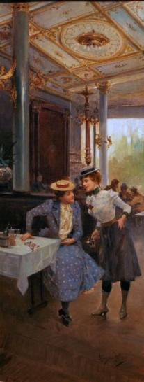 mariano alonzo pérez-mujeres en el café