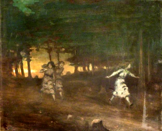 george william russell-las chicas en el bosque