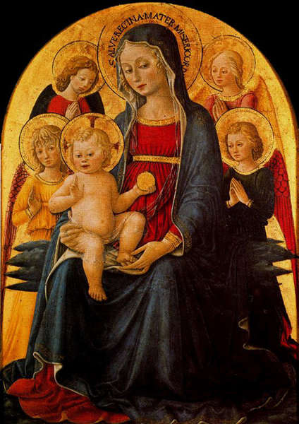 caporali-la virgen y el niño